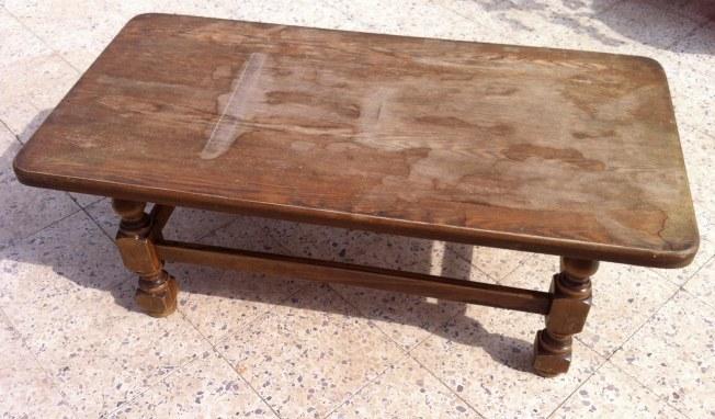 שולחן פרובנסיאל - לפני