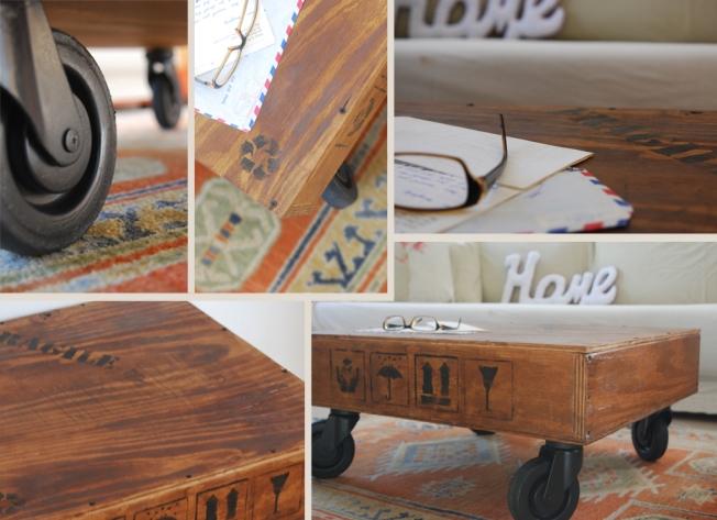 """שולחן קפה נמוך ומגניב על גלגלים אורך: 63 ס""""מ רוחב: 58 ס""""מ גובה: 31 ס""""מ מחיר: 600 ש""""ח"""